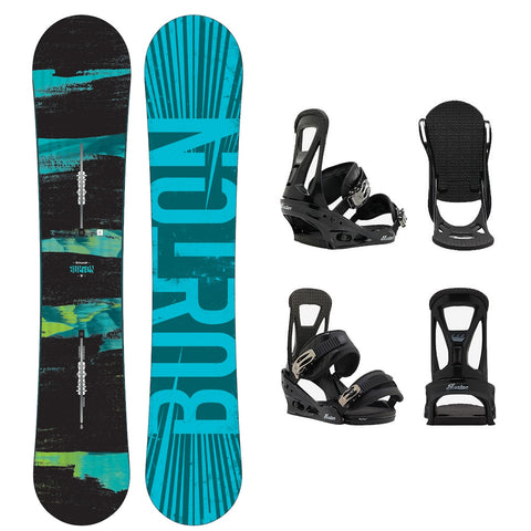 BURTON RIPCORD WIDE SNOWBOARD PACKAGE - 2018
