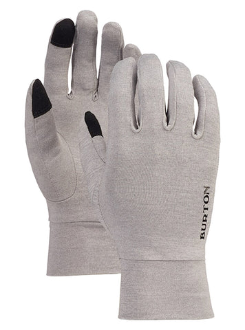 BURTON TOUCHSCREEN GLOVE LINER - GRAY HEATHER
