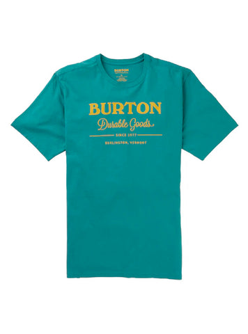 BURTON DURABLE GOODS T-SHIRT - GREEN BLUE SLATE - 2020