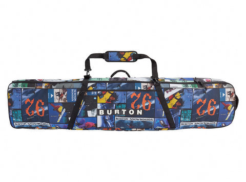 BURTON WHEELIE GIG SNOWBOARD BAG - CATALOG COLLAGE PRINT - 2021
