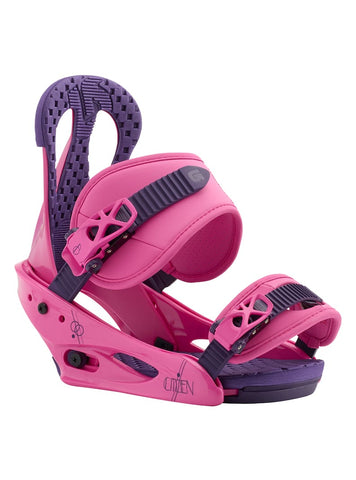 BURTON WOMENS CITIZEN SNOWBOARD BINDINGS - PINK - 2019 - Boardwise