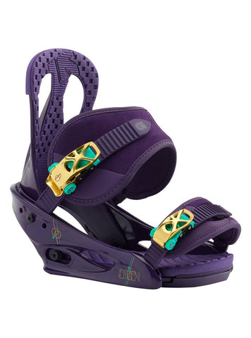 BURTON WOMENS CITIZEN SNOWBOARD BINDINGS - PURPS - 2019