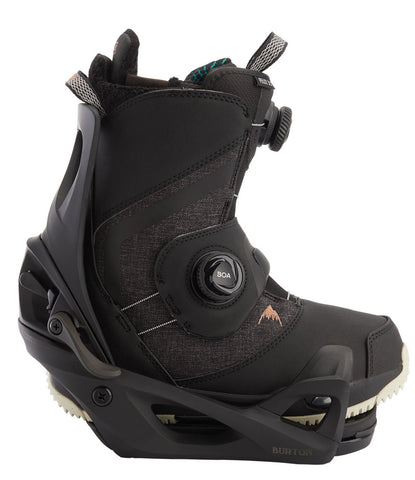 BURTON WOMENS FELIX STEP ON SNOWBOARD BOOTS PACKAGE - BLACK - 2020 - Boardwise