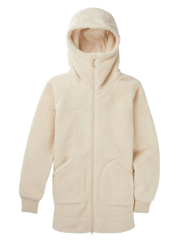 BURTON WOMENS MINXY FULL ZIP FLEECE - CREME BRULEE SHERPA - 2021
