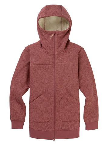 BURTON WOMENS MINXY FULL ZIP FLEECE - ROSE BROWN - 2020 - Boardwise