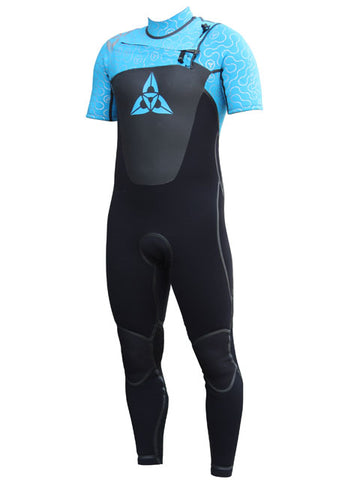 O'Shea Cyclone Front Zip 3 x 2 Mens Wetsuit Black Blue