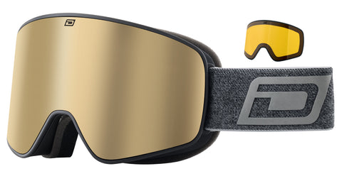 DIRTY DOG MUTANT LEGACY 0.5 SNOWBOARD GOGGLES - BLACK GOLD MIRROR - 2020 - Boardwise