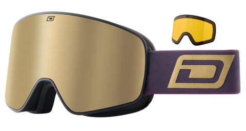 DIRTY DOG MUTANT LEGACY 0.5 SNOWBOARD GOGGLES - BLACK BROWN GOLD MIRROR - 2020 - Boardwise