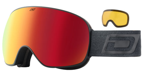DIRTY DOG MUTANT 2.0 SNOWBOARD GOGGLES - BLACK RED FUSION MIRROR - 2020