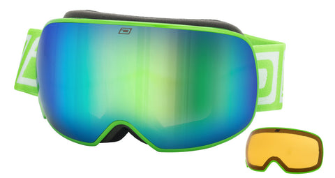 DIRTY DOG MUTANT 2.0 SNOWBOARD GOGGLES - GREEN GREEN FUSION - 2018