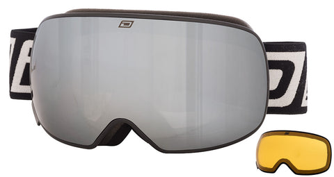 DIRTY DOG MUTANT 2.0 SNOWBOARD GOGGLES - BLACK SILVER MIRROR - 2018