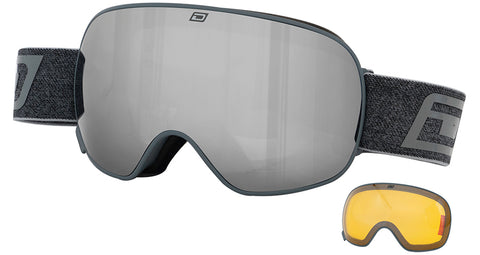 DIRTY DOG MUTANT 2.0 SNOWBOARD GOGGLES - MATTE DARK GREY - 2019