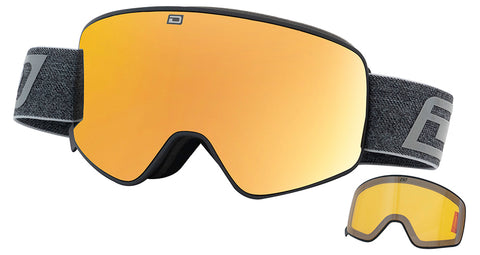 DIRTY DOG MUTANT LEGACY 0.5 SNOWBOARD GOGGLES - BLACK GOLD MIRROR - 2019 - Boardwise