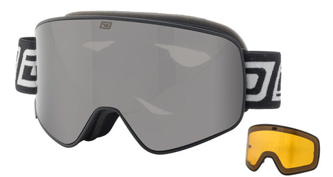 DIRTY DOG MUTANT LEGACY SNOWBOARD GOGGLES - BLACK GREY SMOKE - 2018