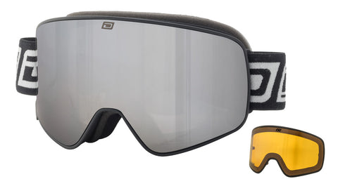 DIRTY DOG MUTANT LEGACY SNOWBOARD GOGGLES - BLACK SILVER MIRROR - 2018
