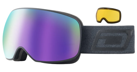 DIRTY DOG MUTANT PROPHECY SNOWBOARD GOGGLES - BLACK PURPLE MIRROR - 2020