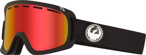 DRAGON D1OTG SNOWBOARD GOGGLES - BLACK RED + ROSE LENS - 2019 - Boardwise