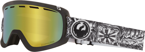 DRAGON D1OTG SNOWBOARD GOGGLES - KENGO DAP GOLD + ROSE - 2019 - Boardwise