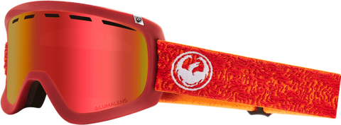 DRAGON D1OTG SNOWBOARD GOGGLES - MAZE RED + ROSE LENS - 2019