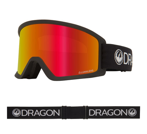 DRAGON DX3 OTG SNOWBOARD GOGGLES - BLACK RED IONIZED + AMBER LENS - 2020 - Boardwise