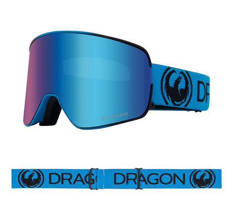 DRAGON NFX2 SNOWBOARD GOGGLES - BLUEBERRY BLUE IONIZED + AMBER LENS - 2020 - Boardwise