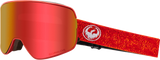 DRAGON NFX2 SNOWBOARD GOGGLES - MAZE RED + ROSE LENS - 2019 - Boardwise