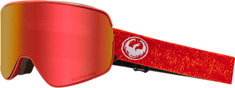 DRAGON NFX2 SNOWBOARD GOGGLES - MAZE RED + ROSE LENS - 2019