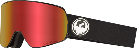 DRAGON NFX2 SNOWBOARD GOGGLES - BLACK RED + ROSE LENS - 2019