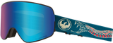 DRAGON NFX2 SNOWBOARD GOGGLES - RATTLER BLUE + AMBER LENS - 2019 - Boardwise