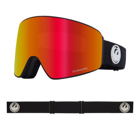 DRAGON PXV SNOWBOARD GOGGLES - BLACK RED + ROSE LENS - 2020 - Boardwise