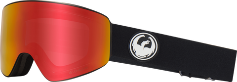DRAGON PXV SNOWBOARD GOGGLES - BLACK RED + ROSE LENS - 2019