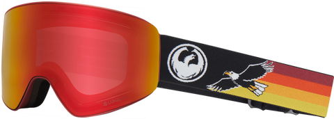 DRAGON PXV SNOWBOARD GOGGLES - EAGLE RED IONIZED + AMBER LENS - 2019