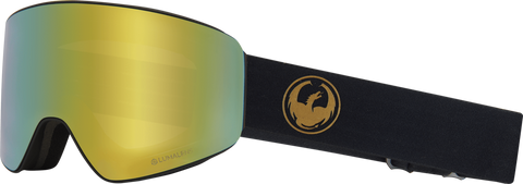 DRAGON PXV SNOWBOARD GOGGLES - GOLD GOLD IONIZED + AMBER LENS - 2019