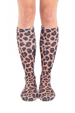 EIVY UNDER KNEE SNOWBOARD SOCKS - LEOPARD - 2020 FRONT