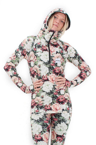 EIVY ICECOLD HOODED ZIP THERMAL TOP - AUTUMN BLOOM- 2019