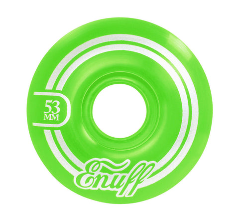 ENUFF REFRESHER 53MM - GREEN - SKATEBOARD WHEELS - Boardwise
