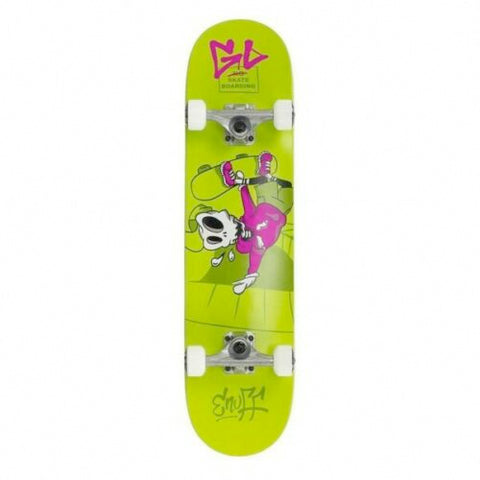 ENUFF SKULLY SKATEBOARD COMPLETE - GREEN