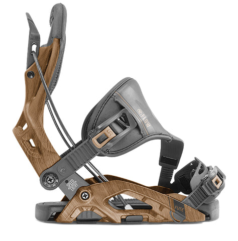 FLOW FUSE HYBRID SNOWBOARD BINDINGS - BROWN - 2020 - Boardwise