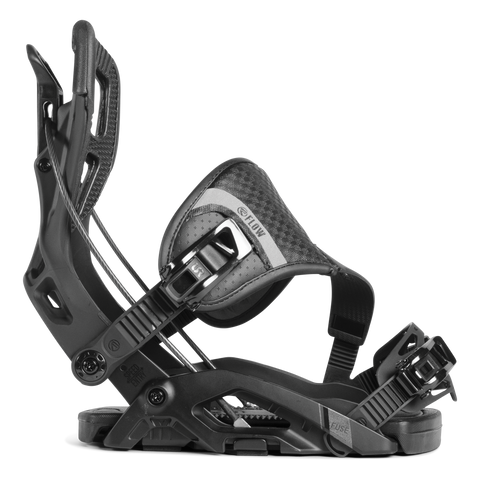 FLOW FUSE HYBRID SNOWBOARD BINDINGS - BLACK - 2019 - Boardwise