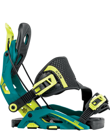FLOW FUSE HYBRID SNOWBOARD BINDINGS - TEAL - 2018
