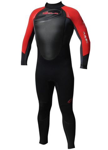 2016 Sola Fusion 3 x 2 MM Mens Summer Fullsuit Black Red