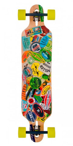 MILLER TRAVEL STICKERS LONGBOARD COMPLETE
