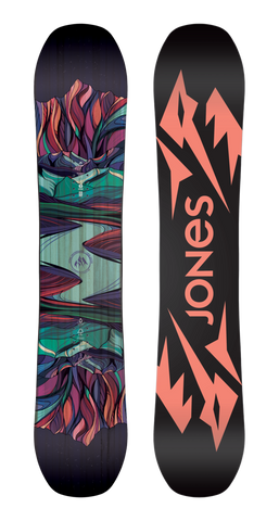 JONES WOMENS TWIN SISTER SNOWBOARD - 2020 TOP