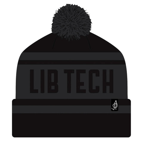 LIB TECH POM BEANIE - BLACK