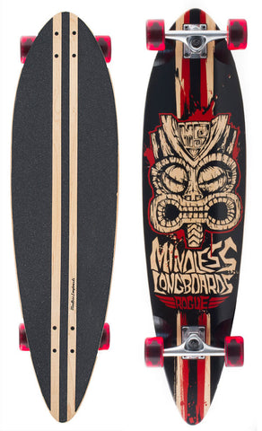 MINDLESS TRIBAL ROGUE II CRUISER - RED - SKATEBOARD COMPLETE
