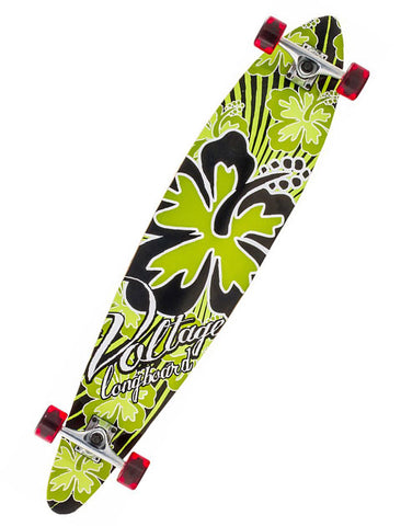 VOLTAGE PINTAIL LONGBOARD - GREEN -  SKATEBOARD COMPLETE - Boardwise