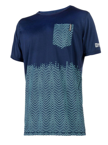 2018 Mystic Voltage Quickdry Rash Tee Blue