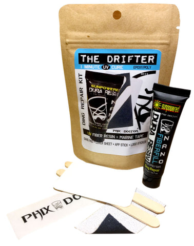 PHIX DOCTOR THE DRIFTER  MINI TRAVEL SURFBOARD DING REPAIR KIT
