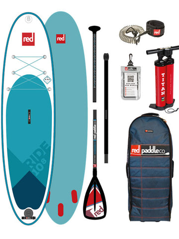 Red Paddle Co. Ride 10ft 8 MSL Stand Up Paddleboard Package - 2018