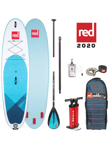 "Red Paddle Co. Ride MSL 10'8"" Stand Up Paddleboard Package - 2020 - Boardwise"